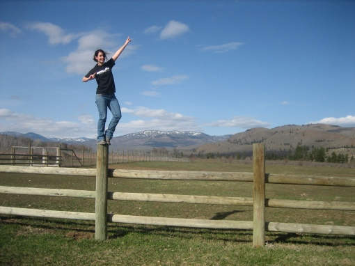 Fence post pose