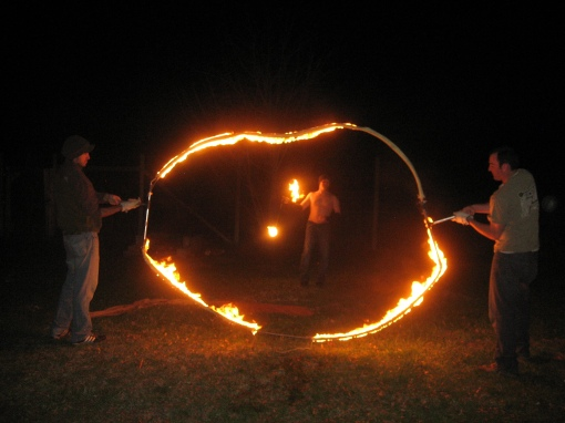 Fire Hoop and Flaming Nunchucks