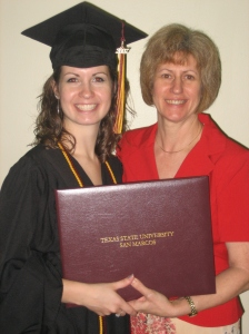 Mom and I at my college graduation