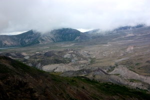 Lava cones in Mt St Helens