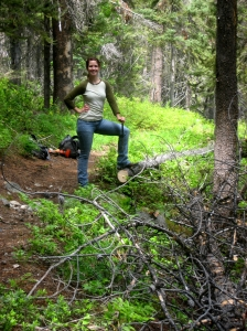 Conquering downed trees on Twisp Pass Trail