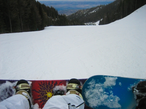 Snowboarding at Mission Ridge, WA