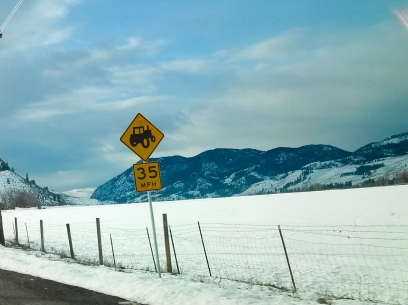 tractor crossing, Winthrop WA