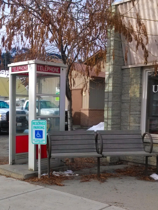 Phone Booth at the Post Office, Twisp WA