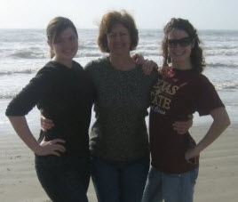 mother daughters on the beach Mother's Day