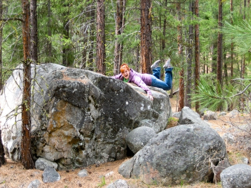 boulders in Okanogan Forest Winthrop WA