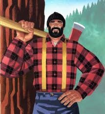 lumberjack in the northwest with axe
