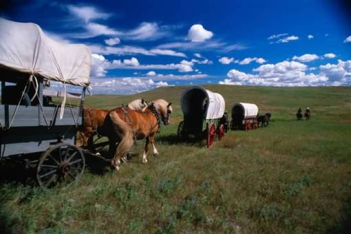 wagon train to Oregon
