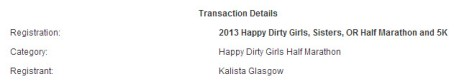 Happy Girl Dirty Half Marathon registration, Sisters OR