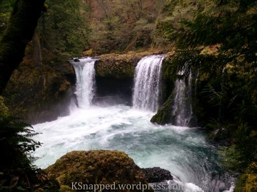 top tier of Spirit Falls, Stevenson WA