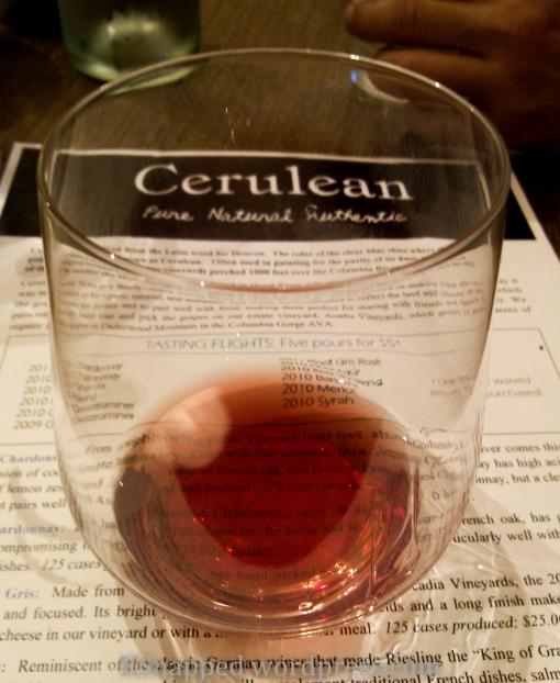 Cerulean Winery tasting room, Hood River OR