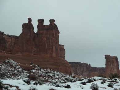Three Gossips formation at Arches National Park, Moab UT