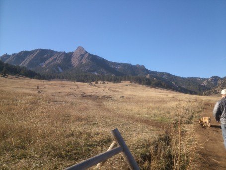 Flatirons near Boulder, CO at Chautauqua National Landmark