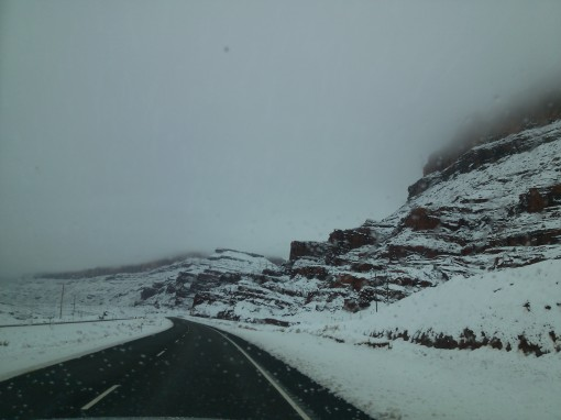 snow at Price, UT