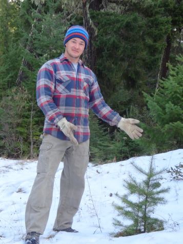 Christmas tree hunting, Mt Adams WA