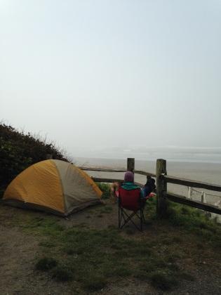 camping in the Olympics, WA