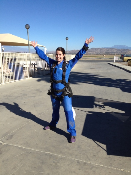 finished jump, skydive Perris