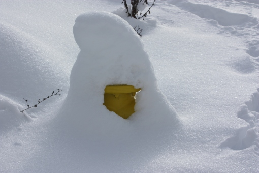 buried fire hydrant, hood river winter 2017